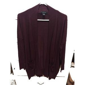 Primark - Wine Open Cardigan - Size L
